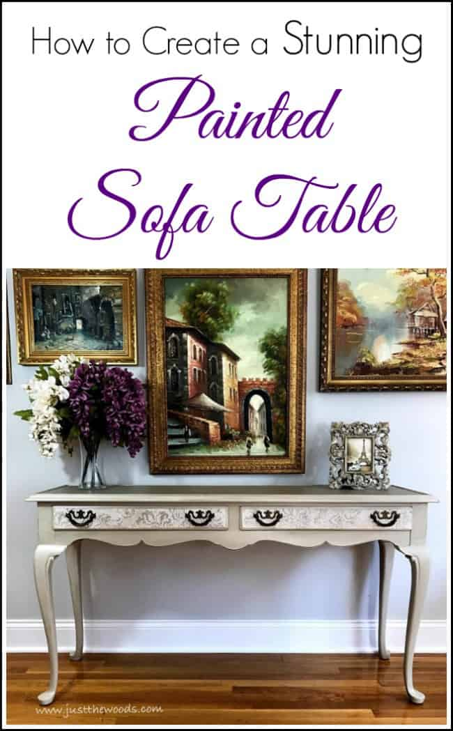 Painted Sofa Table, Painted Table, How To Paint A Table