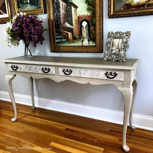 stunning painted table, painted sofa table, how to paint a table, refinish a table