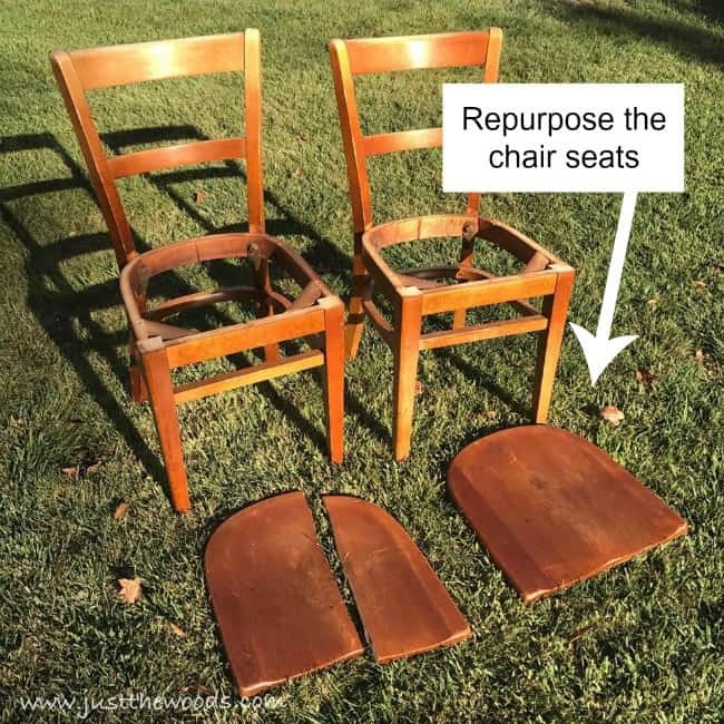 repurpose, diy sign, chair seats repurpose, how to repurpose chairs,