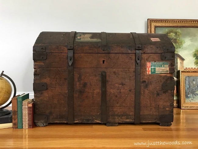 what is a steamer trunk, antique steamer trunk restoration