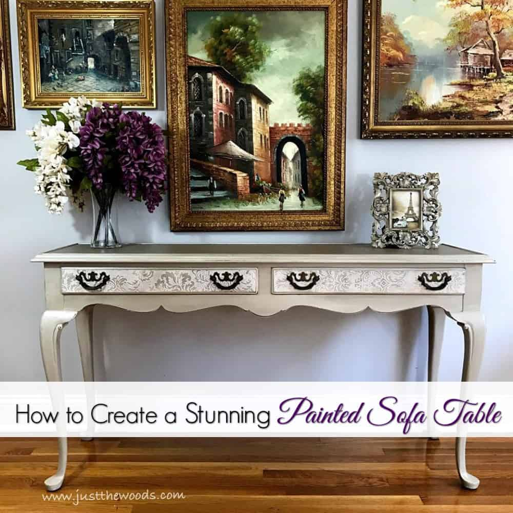 Stunning Painted Sofa Table Jpg