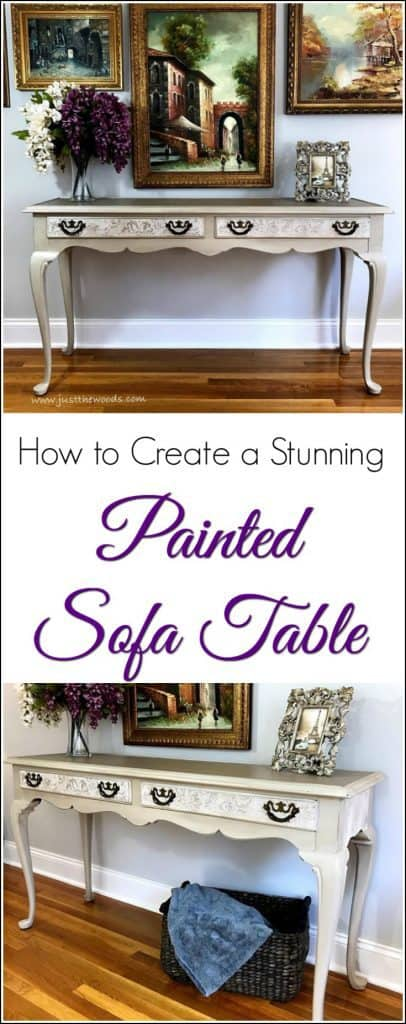 How to Create a Stunning Painted Sofa Table