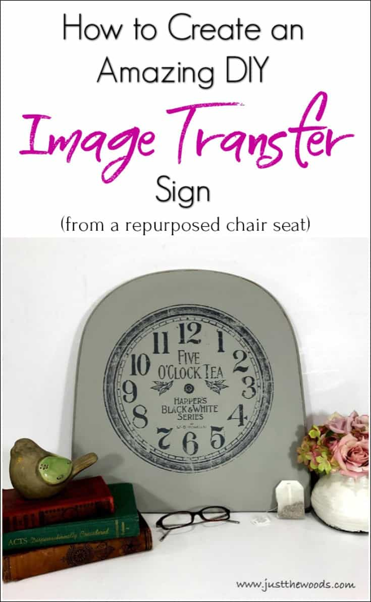 See how easy it is to create an amazing DIY image transfer sign from a repurposed chair seat and an image. Make your own unique sign with image transfers.