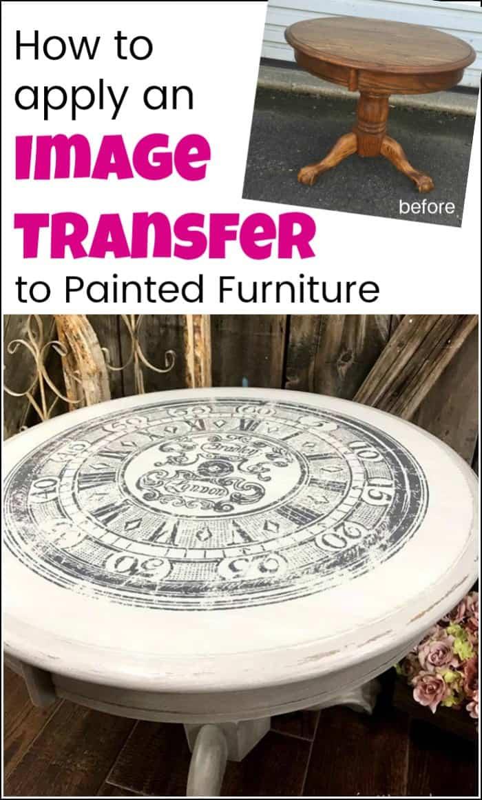 Decoupage Furniture Image Transfers