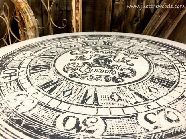 clock image transfer, transfer images to wood, transfer images to furniture, how to image transfer