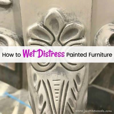 The Best No Mess Method to Wet Distress Painted Furniture