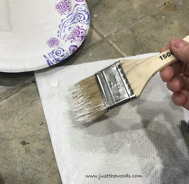 how to dry brush paint, dry brush technique, chip brush, wipe off paint
