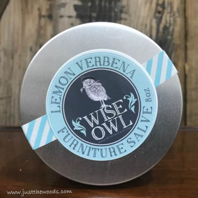 wise owl, lemon verbena, furniture salve