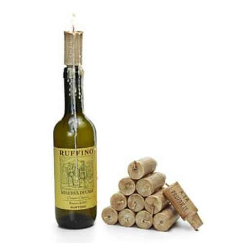 unique gift for wine lover, wine cork candle, wine bottle with cork candle