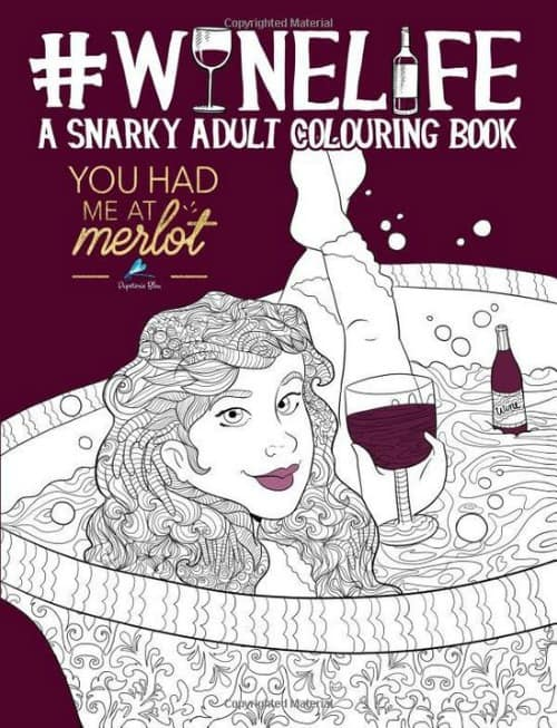 winelife, adult coloring book, wine coloring book, wine lovers gifts, unique gift for wine lovers,