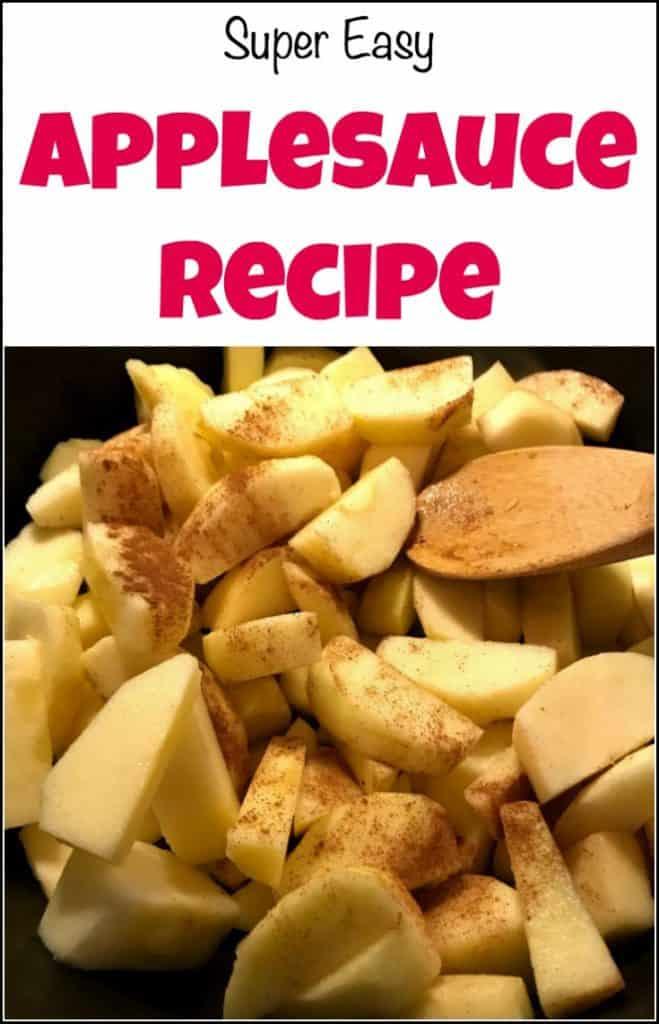 3 ingredient applesauce, applesauce recipe,