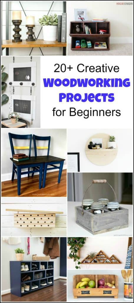 20 Creative Beginner Woodworking Projects For The Serial Diyer