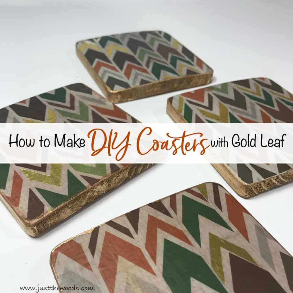How to Make the Best DIY Coasters with Gold Leaf