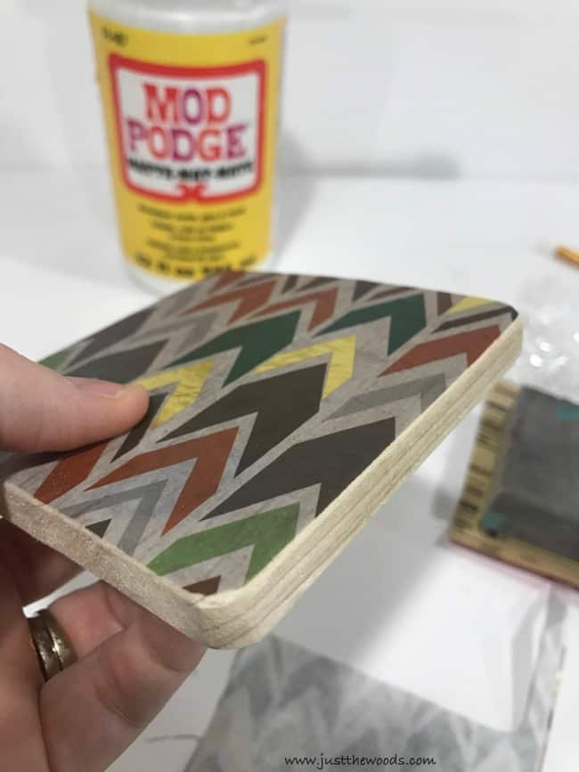 how to decoupage, decoupage wood coasters, diy coasters