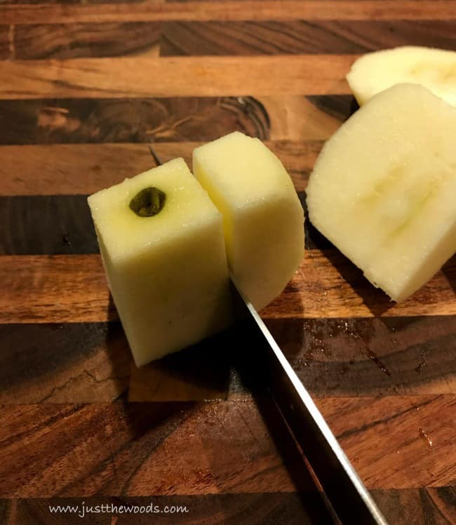 core apples, how to core apples, easy applesauce