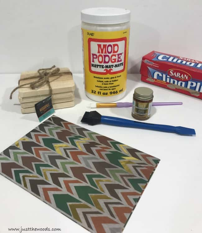 decoupage supplies, diy coasters, how to make coasters, diy wood coasters