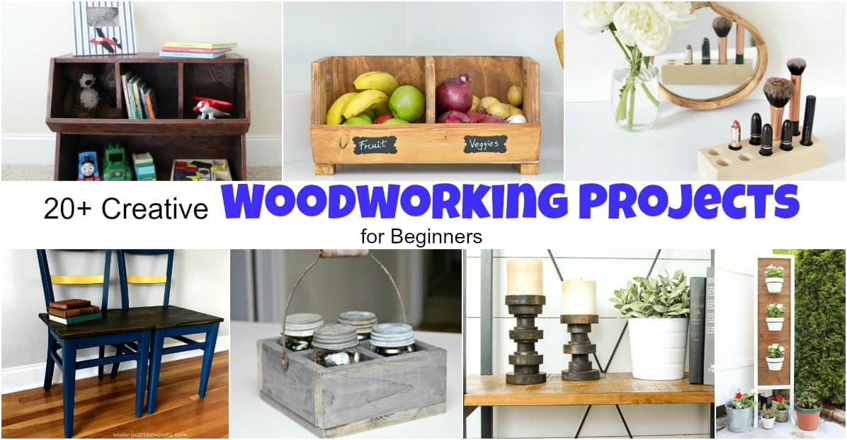 20+ Creative Woodworking Projects for Beginners