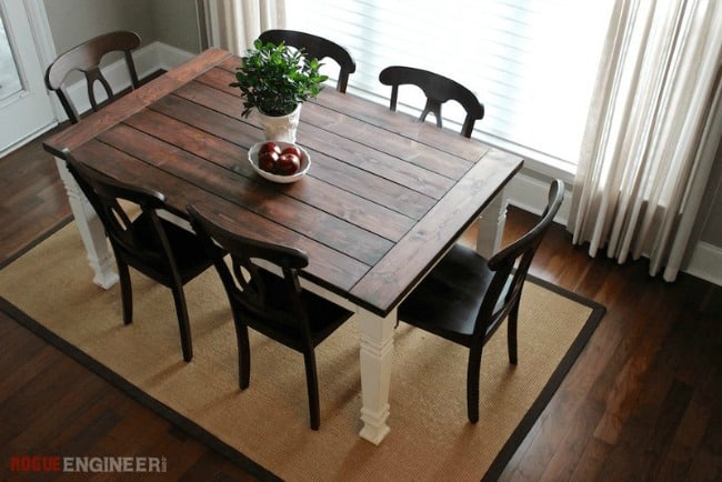 Diy farmhouse table build a table diy kitchen projects how to build a