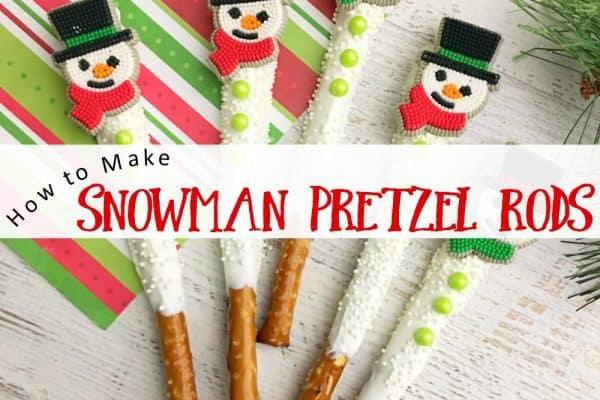 How to Make Adorable Snowman Pretzel Rods