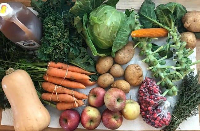 fresh vegetables, local produce, applesauce recipe