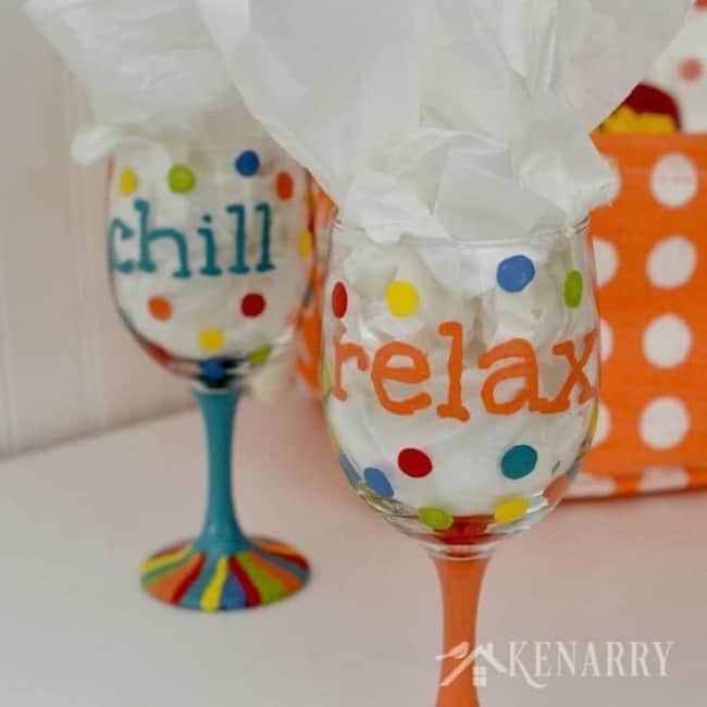 hand painted wine glass, wine lovers, painted wine glasses