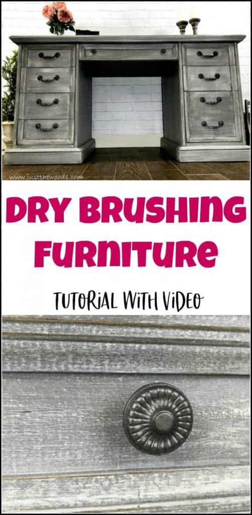 how to dry brush furniture tutorial, how to dry brush paint, dry brushing furniture, dry brushing tutorial, dry brush technique