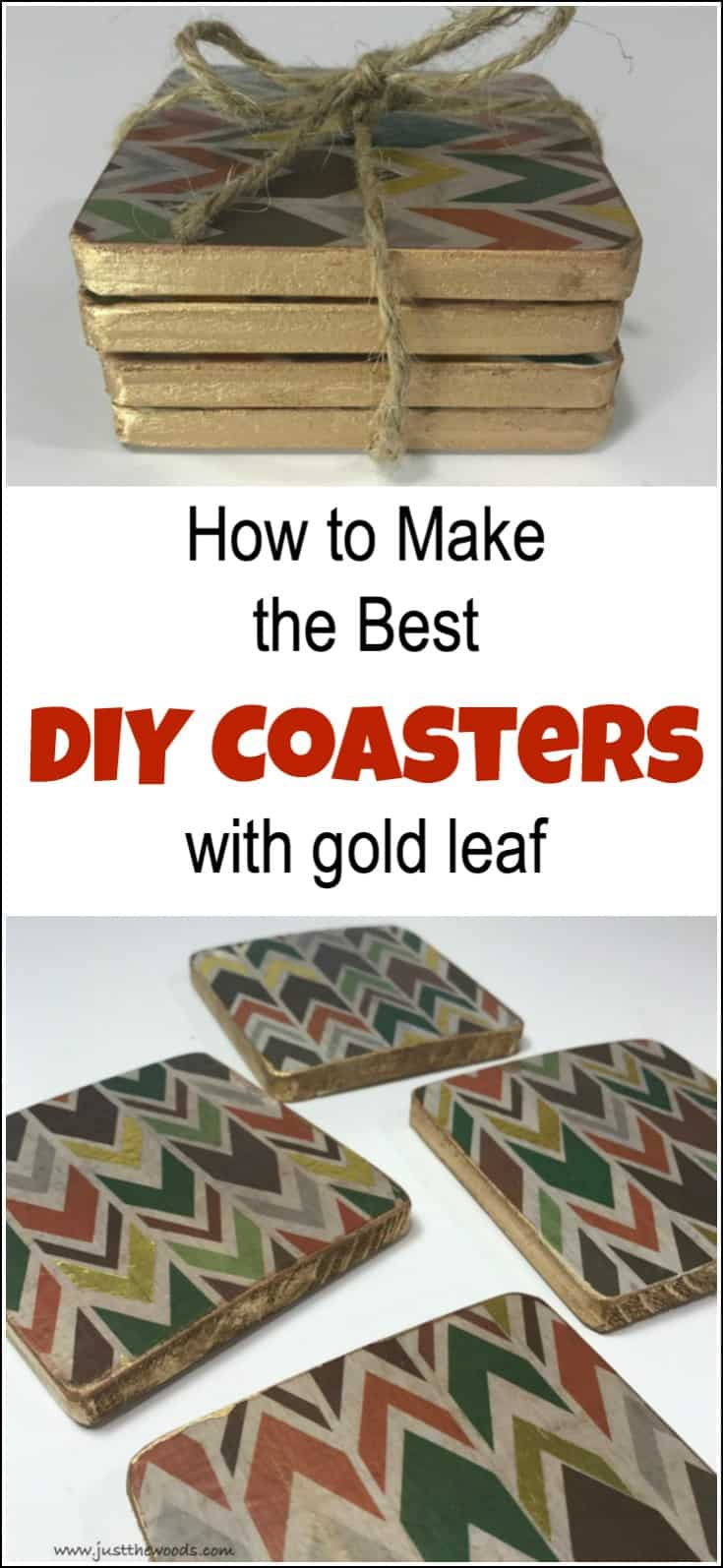 How To Make The Best DIY Coasters With Gold Leaf - Create coasters from photos