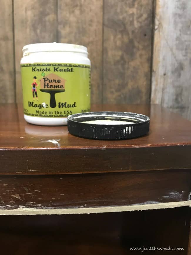 magic mud, wood filler, repair wood furniture, pure home paint