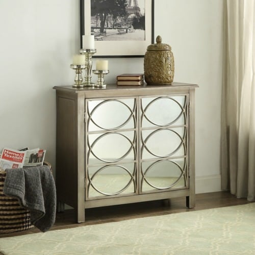 Glam Mirror Chest, Hollywood Glam Cabinet, Hollywood Glam For Less