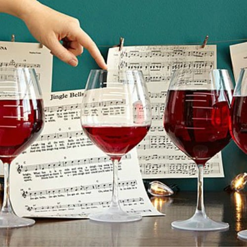 musical wine glasses, unique gift for wine lovers