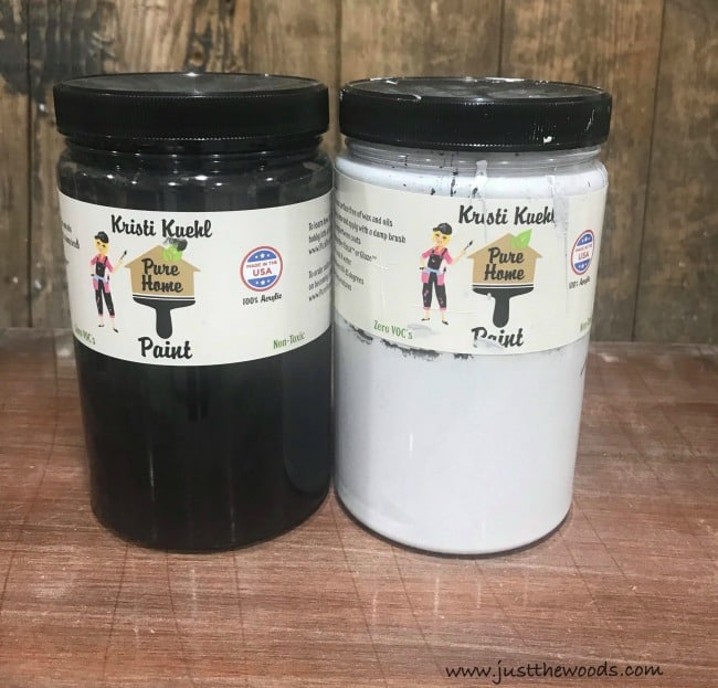 chalk paint, black chalk paint, gray chalk paint, pure home paint, furniture paint