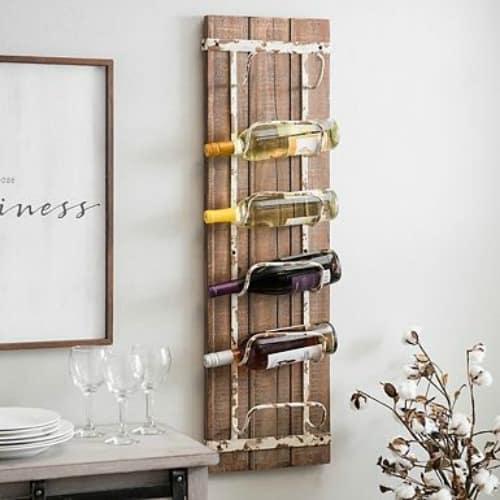 rustic wine rack, wine lovers gift