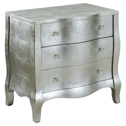 metallic bombay chest, silver bombe chest, bombe chests, bombay chest of drawers,
