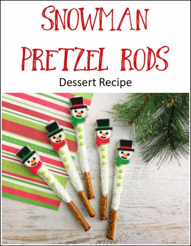 snowman pretzel recipe