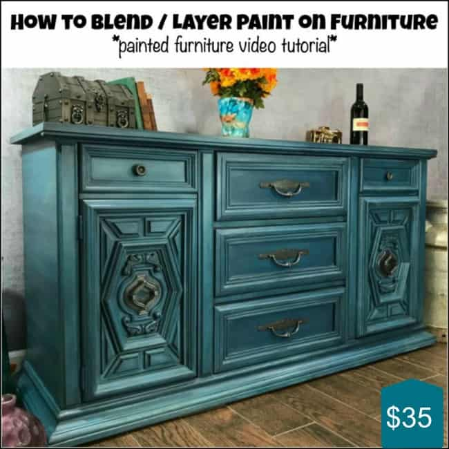 blend and layer paint, video tutorial, furniture painting tutorial, how to paint furniture