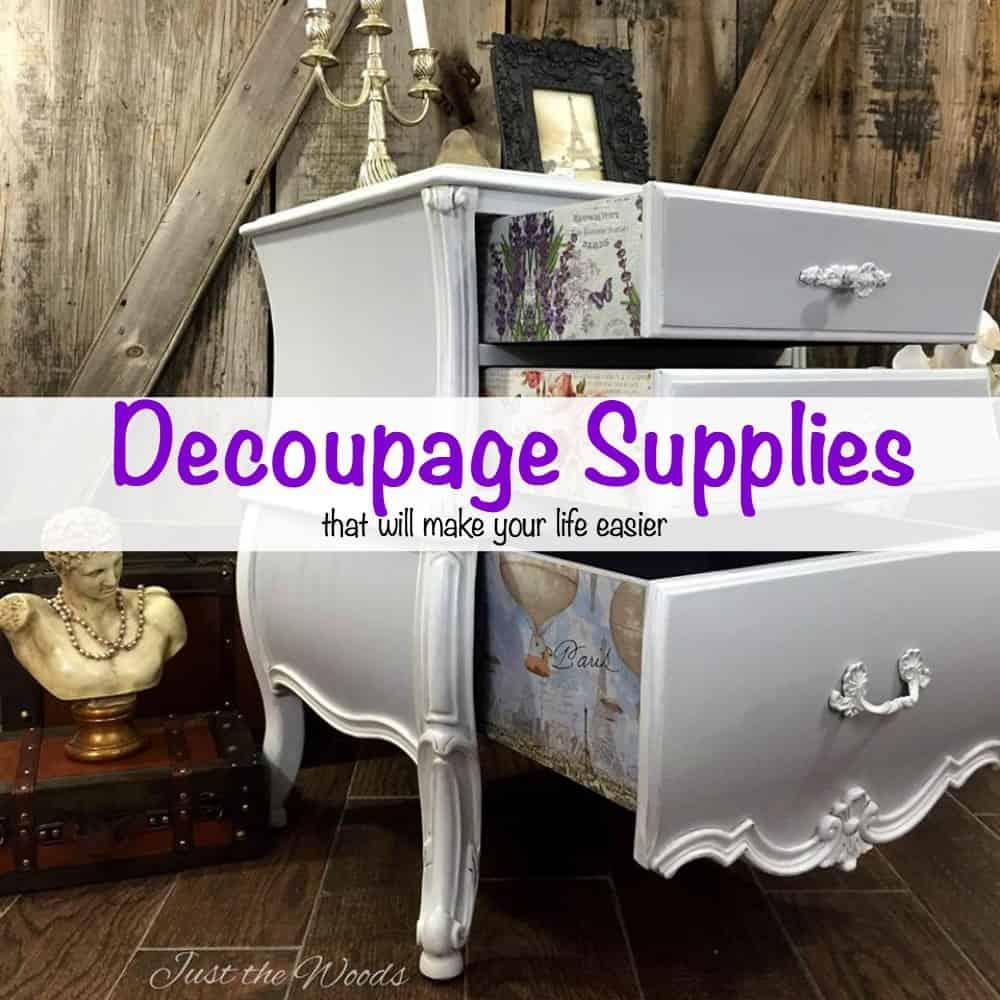 decoupage supplies