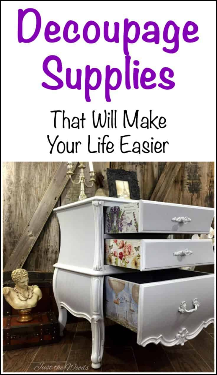 Decoupage Supplies. When you want to know where to find decoupage supplies and what you need for decoupage projects. Decoupage materials found online.