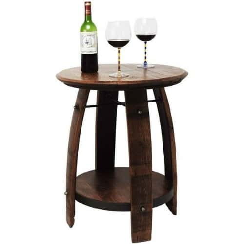 wine lovers gifts, wine barrel table, gift for wine lovers