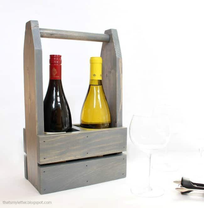 diy wine carrier, how to make a wine carrier, wine lover gift