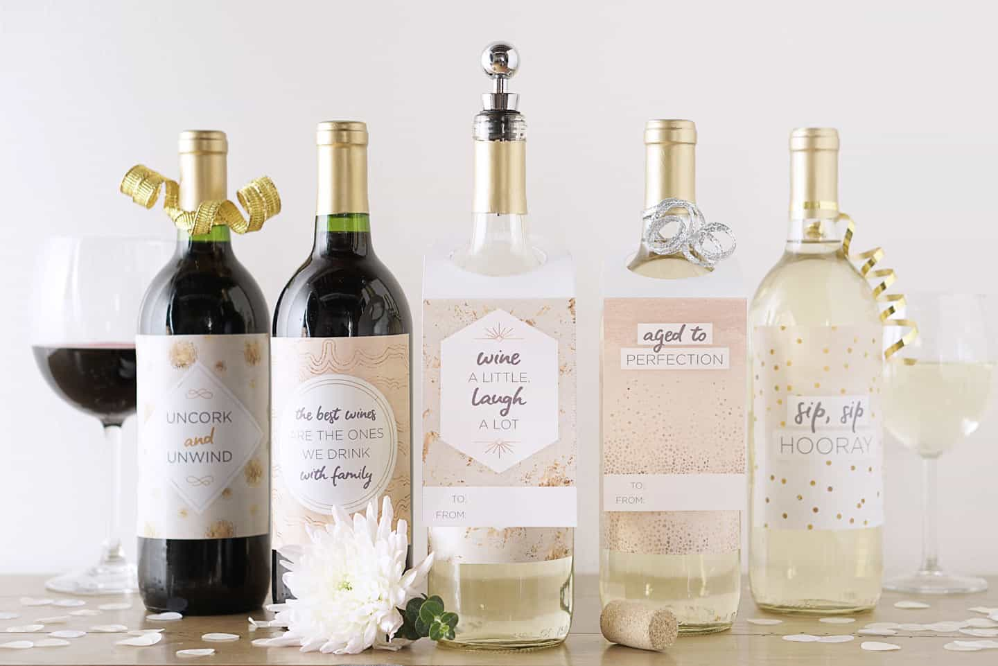 wine labels, printable