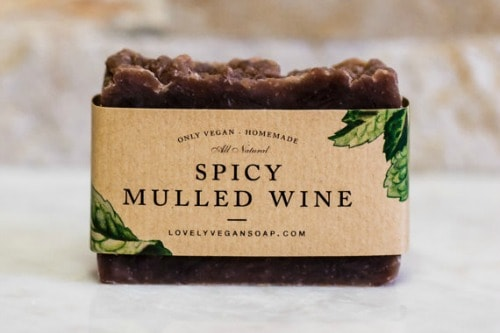 wine lovers soap, gift for wine lover, handmade wine soap