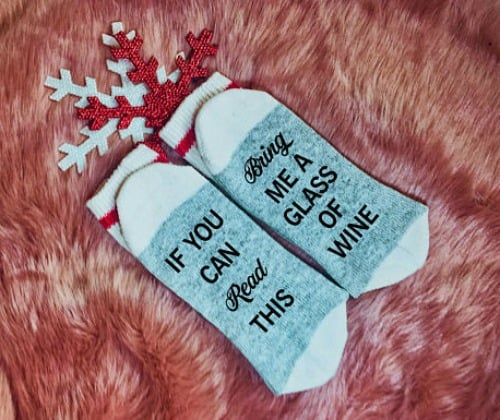 wine socks, socks for wine lovers, handmade gift, wine lovers gifts
