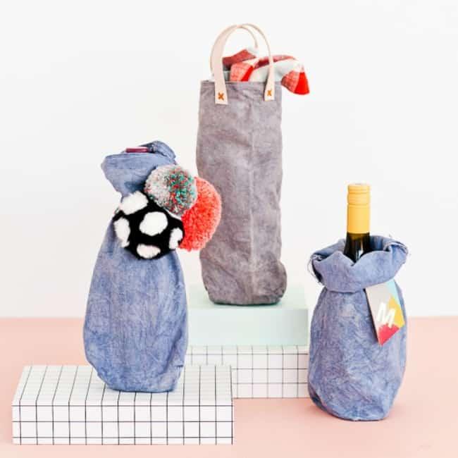 wine tote, custom tote, diy wine tote, wine bag, wine gift