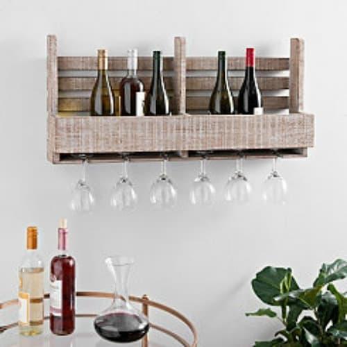wine crate wall shelf, wooden wine shelf, wine gift, gift for wine lovers