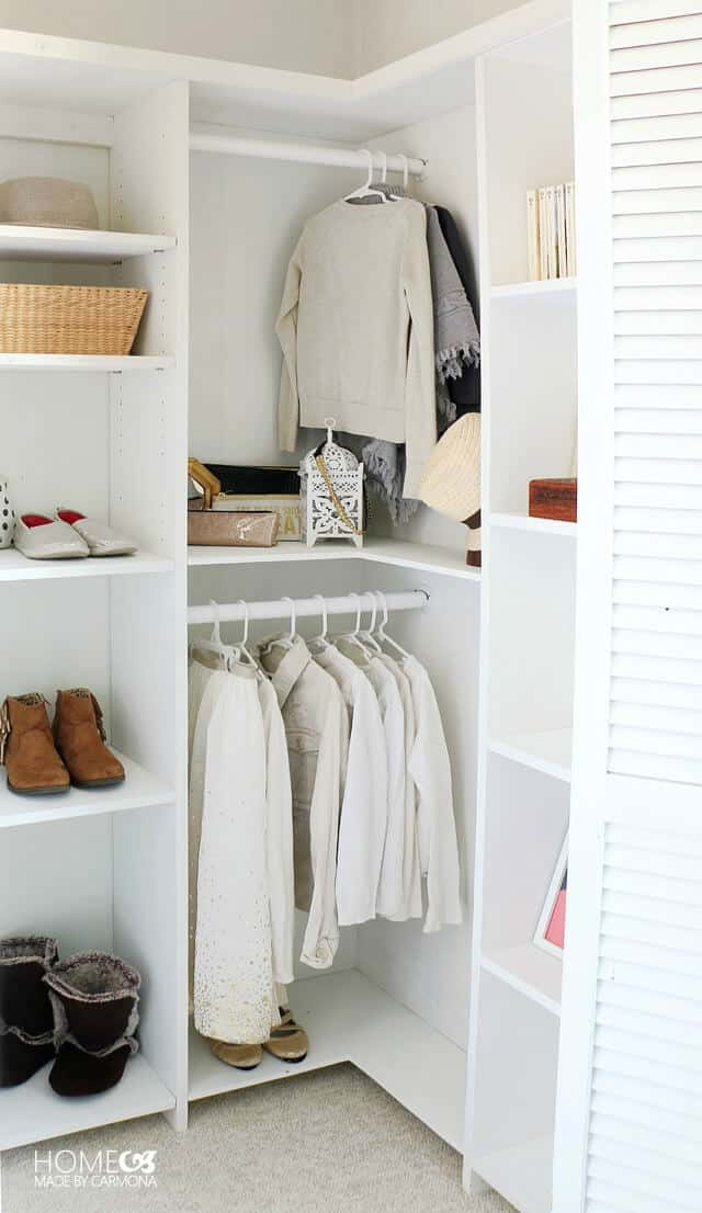 closet makeover, closet organizer, woodworking projects, weekend woodworking proejcts