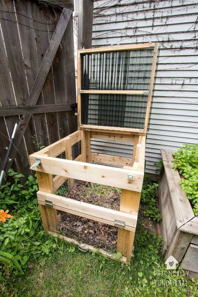 diy compost bin, woodworking projects, garden woodworking projects,