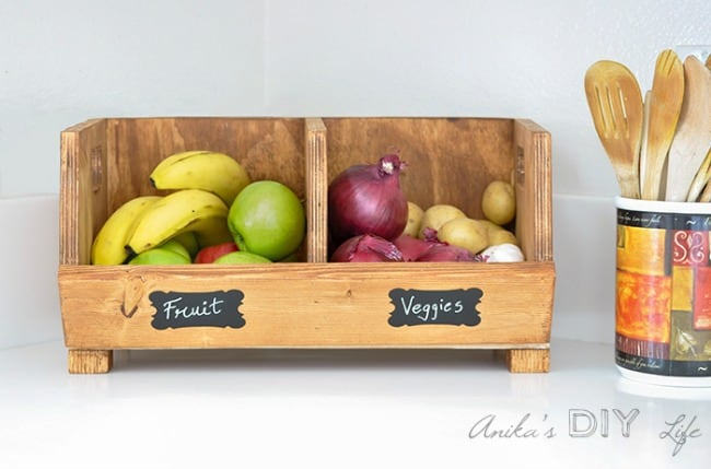 diy produce storage, easy woodworking projects, free woodworking plans,