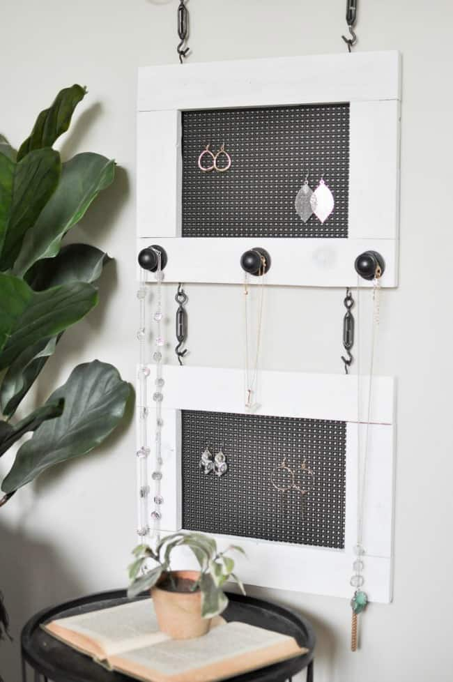 diy jewelry organizer, woodworking projects, easy woodworking projects