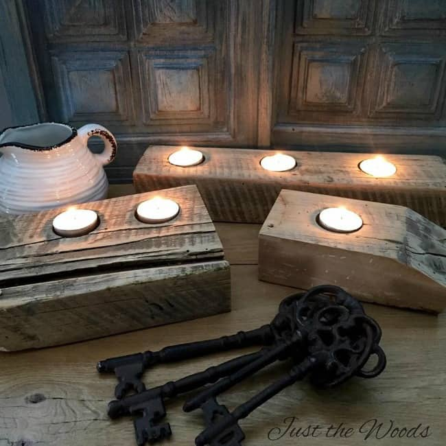 woodworking projects, beginner woodworking projects, diy tea light candle holder