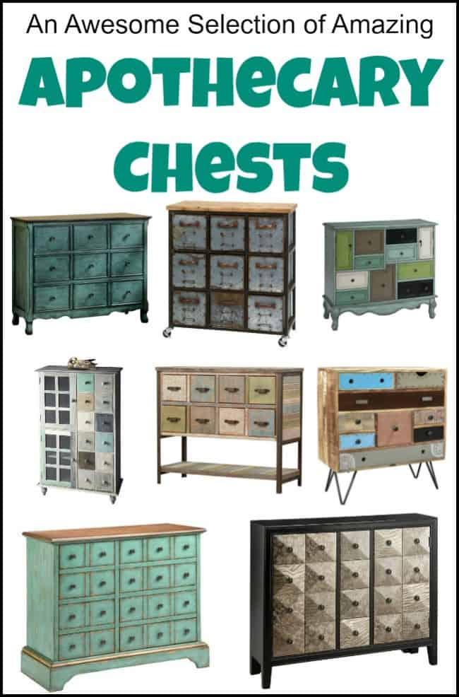 Who loves drawers? I do! You can't go wrong with apothecary chests, apothecary cabinets, and apothecary dressers to fill your storage needs. An abundance of drawers on apothecary style furniture make a great centerpiece in a room. These apothecary cabinets for sale can all be brought to your doorstep. #apothecarydresser #apothecarydrawers #apothecarycabinetforsale #metalapothecarycabinet #apothecarychest #apothecaryfurniture